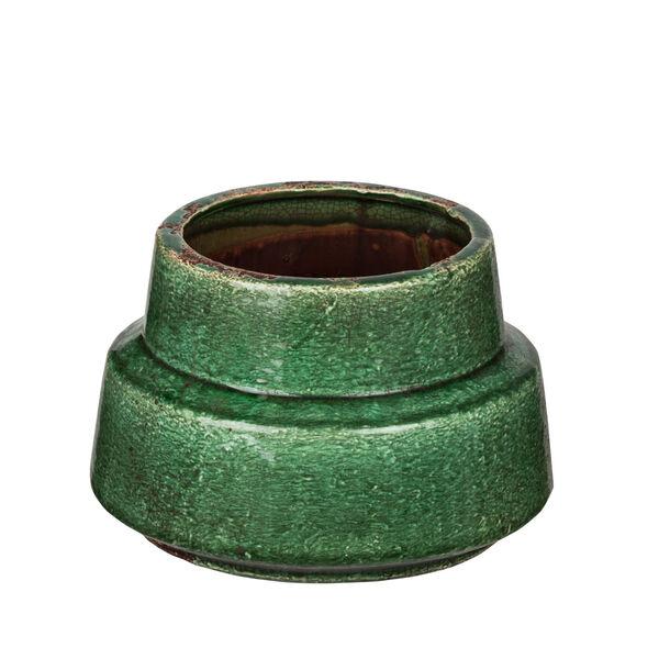 Green Nine-Inch Round Vase, image 1
