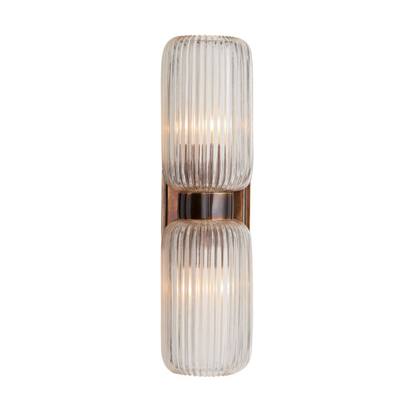 Tamber Heritage Brass Two-Light Wall Sconce, image 2