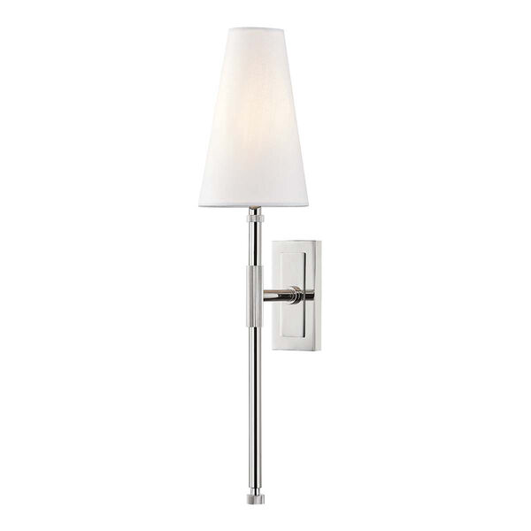 Bowery Polished Nickel One-Light Wall Sconce, image 1