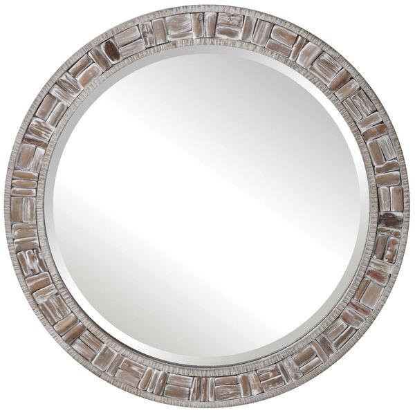 Del Mar Solid Wood Round Mirror, image 2