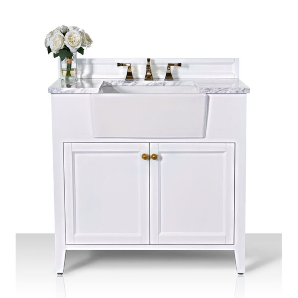 Adeline White 36-Inch Vanity Console with Farmhouse Sink, image 3