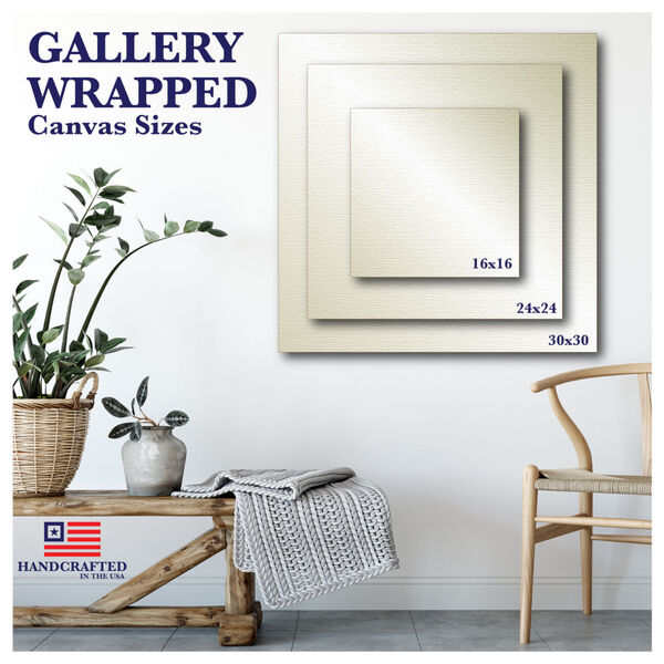 White Flowers Gallery Wrapped Canvas, image 3