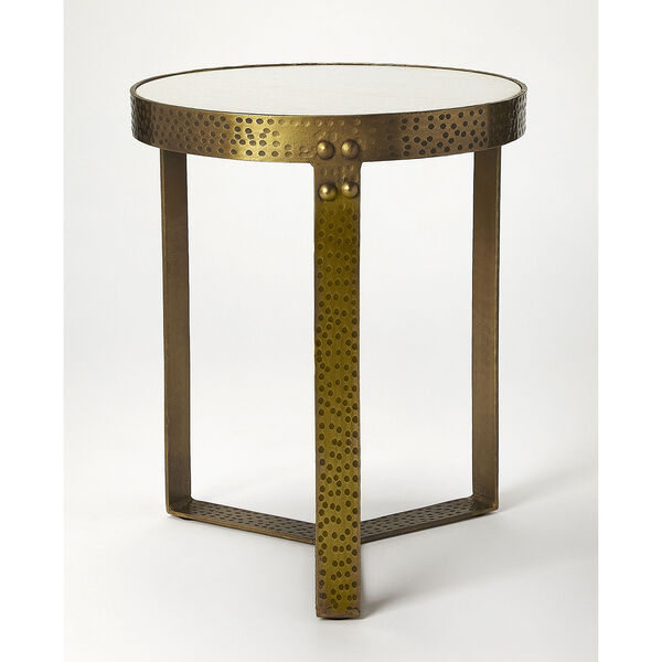 Butler Loft Marble and Metal Elton End Table, image 3