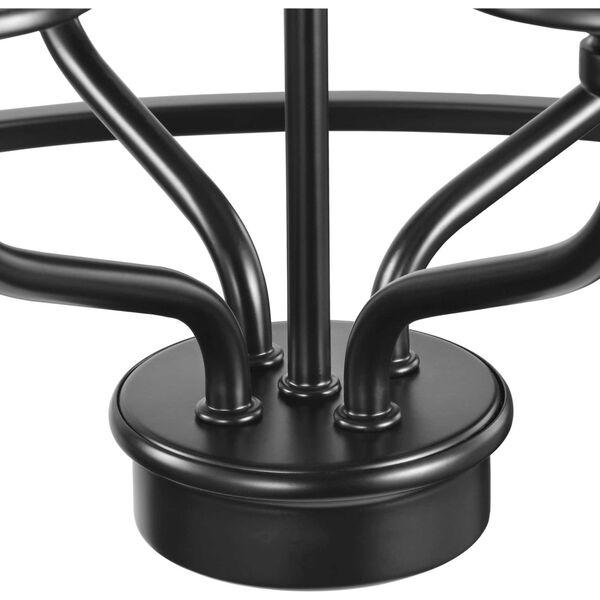 Bonita Black 23-Inch Four-Light Pendant, image 4