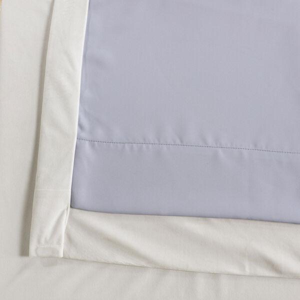 Porcelain White Blackout Velvet Pole Pocket Single Panel Curtain, 50 X 96, image 6