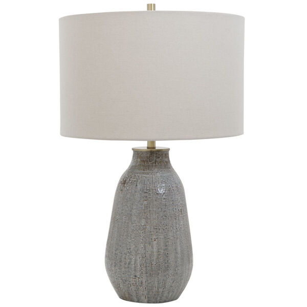 Monacan Gray One-Light Textured Table Lamp, image 4