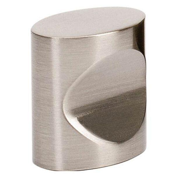 Satin Nickel Brass 3/4-Inch Oval Knob, image 1