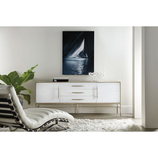 Cascade Taupe and White Entertainment Console, image 6