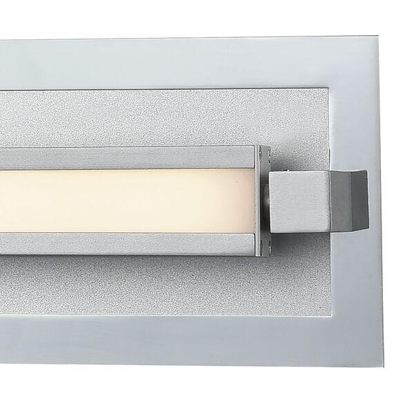 Kiara Frosted Polished Nickel and Satin Aluminum LED Vanity Light, image 2