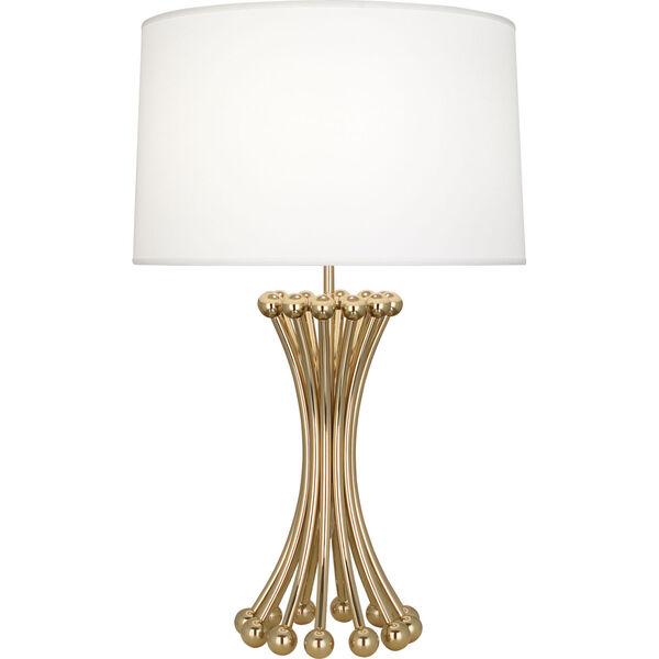 Jonathan Adler Biarritz Polished Brass One-Light Table Lamp, image 1