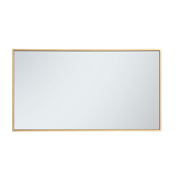 Eternity Brass 20-Inch Rectangular Mirror with Metal Frame, image 5