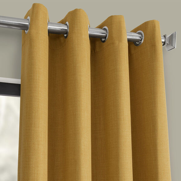 Gold 108 x 50-Inch Polyester Blackout Curtain Single Panel, image 2