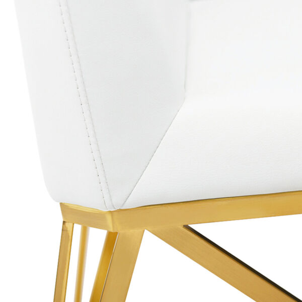 Caprice White and Gold Dining Chair, image 4