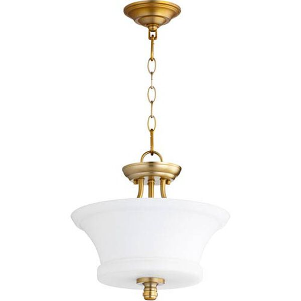 Atherton Aged Brass 13-Inch Two-Light Pendant, image 1