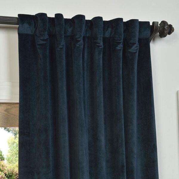 Signature Midnight Blue Blackout Velvet Pole Pocket Single Panel Curtain, 50 X 120, image 4