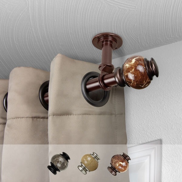 Bronze 120-Inch Ceiling Curtain Rod, image 2