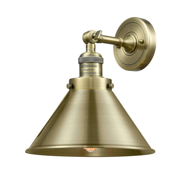 Briarcliff Antique Brass One-Light Wall Sconce, image 1