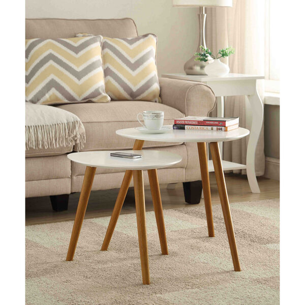 Oslo White Nesting End Tables, image 3