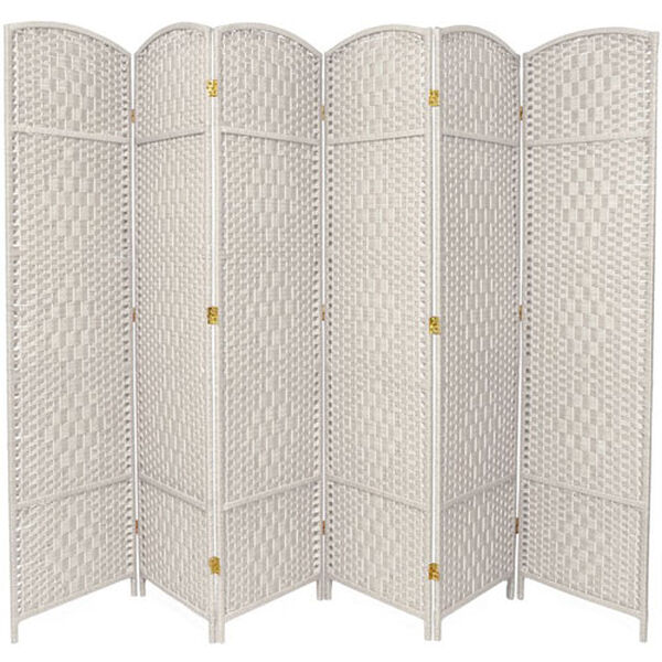 Seven Ft. Tall Diamond Weave Room Divider, Width - 118.5 Inches, image 1
