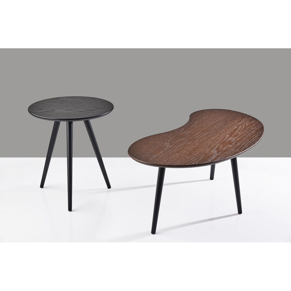 Gilmour Black and Walnut Nesting Table, image 4