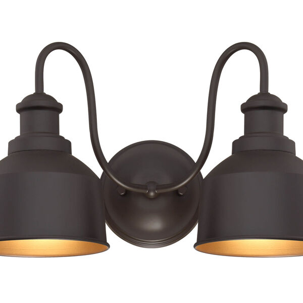 Lex Oil Rubbed Bronze Two-Light Outdoor Wall Sconce, image 1