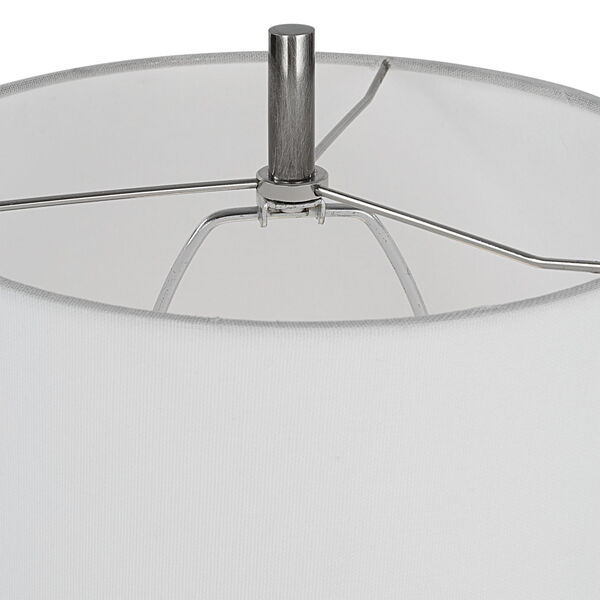 Aurelia Polished Nickel One-Light Buffet Lamp, image 2