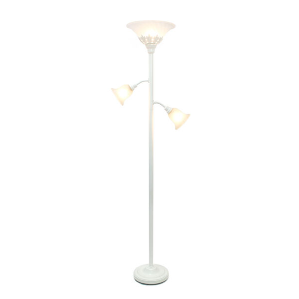 Quince White Three-Light Floor Lamp, image 2