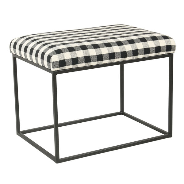 Black and White 22-Inch Ottoman, image 3