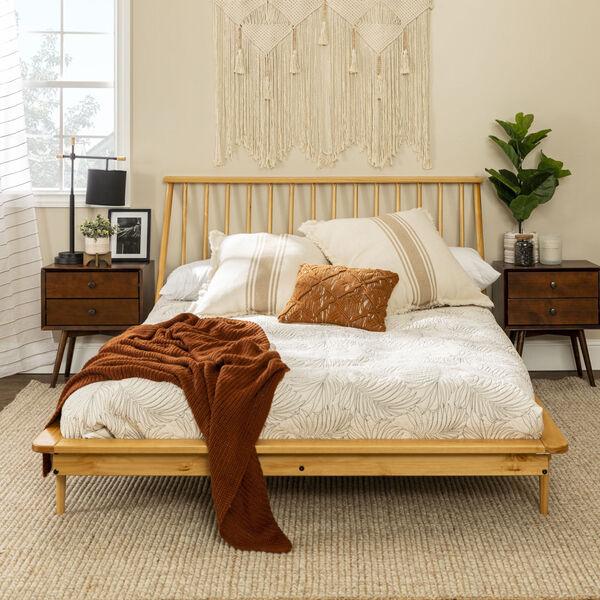 Light Oak Queen Spindle Bed, image 2