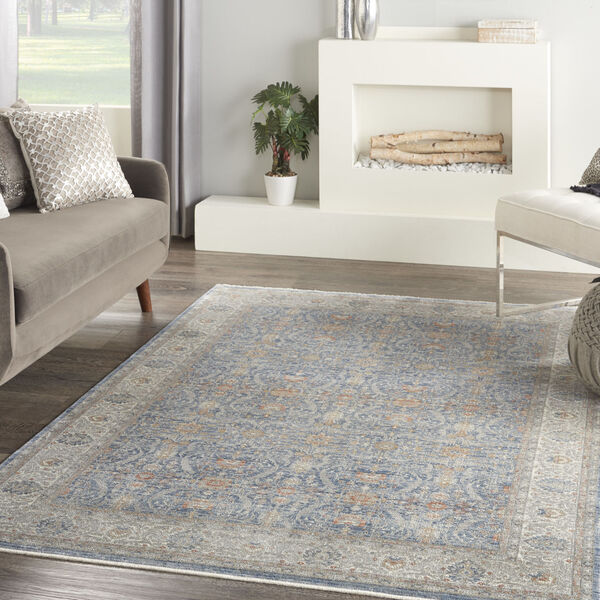 Starry Nights Light Blue Rectangular: 5 Ft. 3 In. x 7 Ft. 3 In. Area Rug, image 2