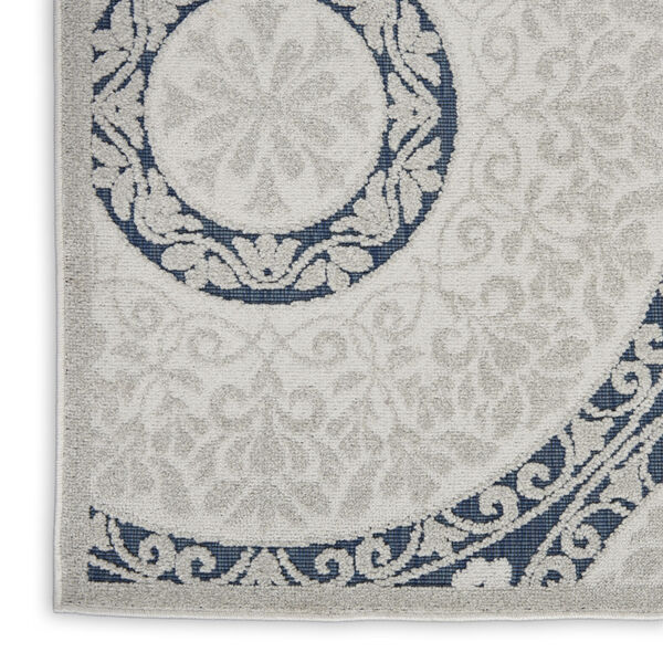Calobra White and Blue Indoor/Outdoor Area Rug, image 5