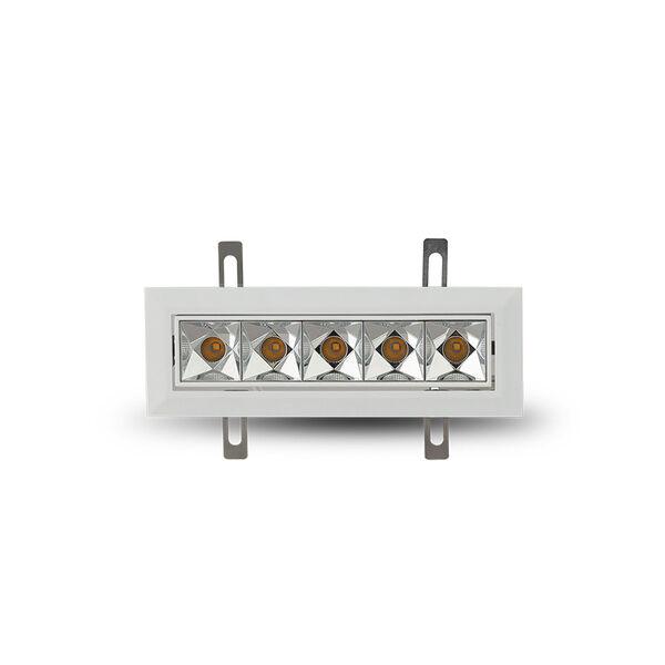 Rubik White Five-Light Adjustable LED Recessed Downlight, image 3