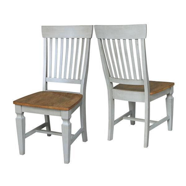 Vista Hickory Stone Slat Back Chair, Set of Two, image 5
