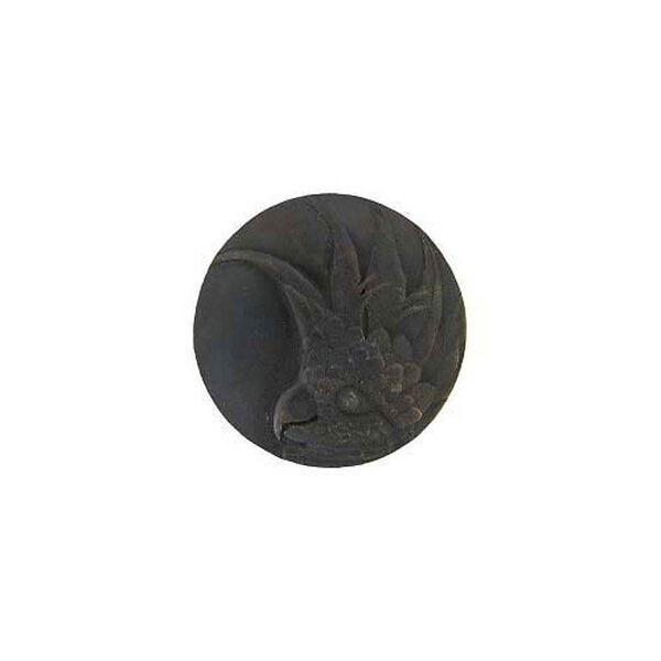 Dark Brass Small Right Cockatoo Knob, image 1