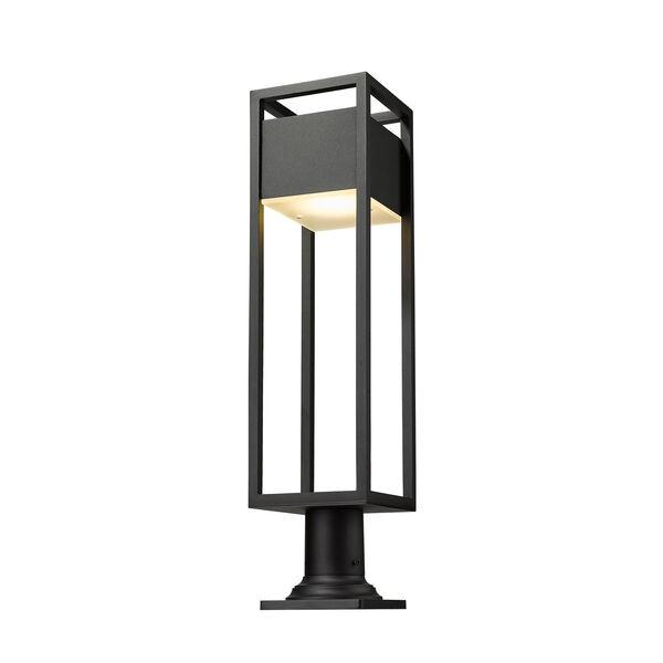 Barwick Black 29-Inch One-Light LED Outdoor Pier Mount, image 5