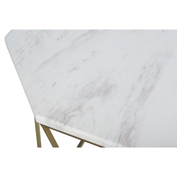 Kristie Volakas Marble And Dark Bronze End Table, image 4