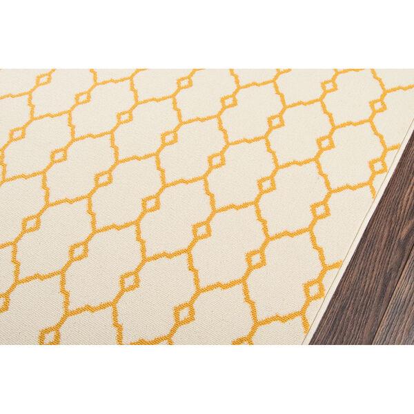 Baja Trellis Yellow Indoor/Outdoor Rug, image 4