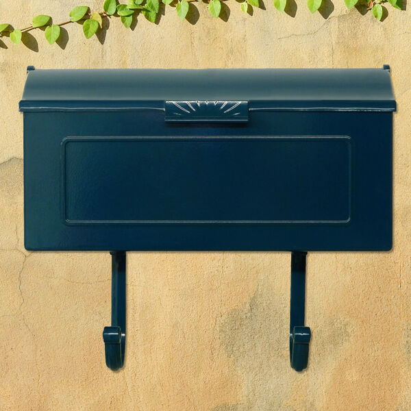 Nash Blue Horizontal Mailbox, image 3