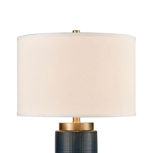 Concettas Blue Navy Blue Antique Brass One-Light Table Lamp, image 3