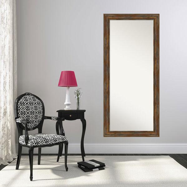 Alexandria Rustic Brown 30-Inch Floor Mirror, image 4