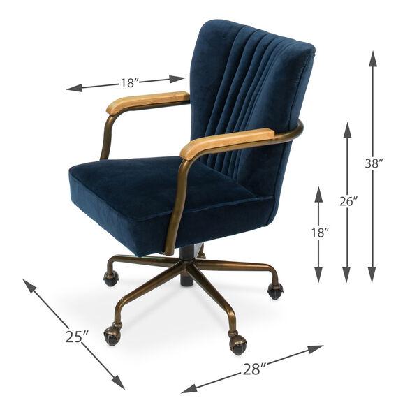 Blue Brooks Swivel Upholsterd Chairs, image 5