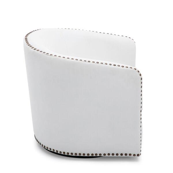 Tyler Milky Swivel Arm Chair, image 4