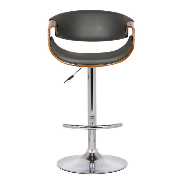Butterfly Walnut and Gray 33-Inch Bar Stool, image 2