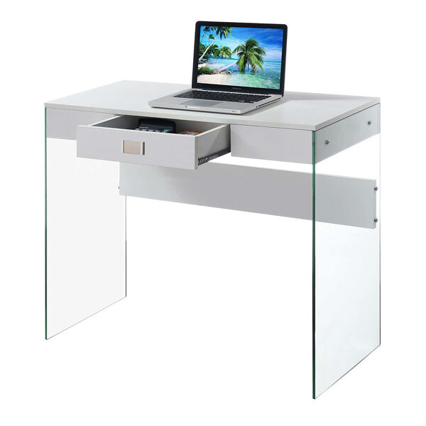 SoHo White 36-Inch Desk, image 2