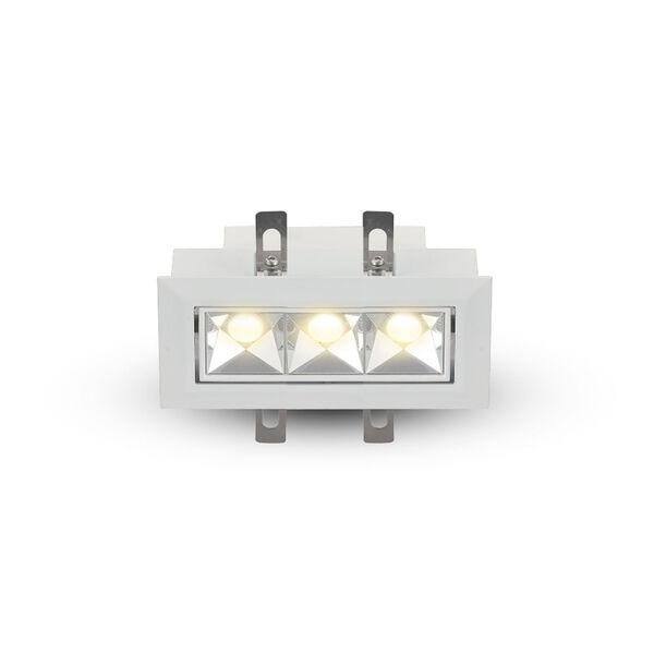 Rubik White Three-Light Adjustable LED Recessed Downlight, image 2
