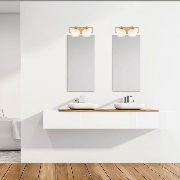 Cowen Brushed Gold Two-Light Bath Vanity, image 3