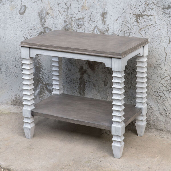 Calypso Gray and White Side Table, image 1