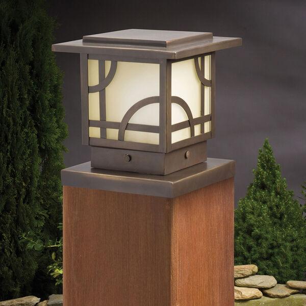 Larkin Estates Olde Bronze 6.5-Inch One-Light Landscape Deck Post Light, image 1