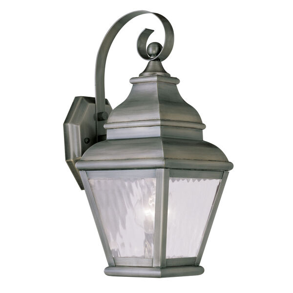 Exeter Vintage Pewter Outdoor Wall Sconce, image 1