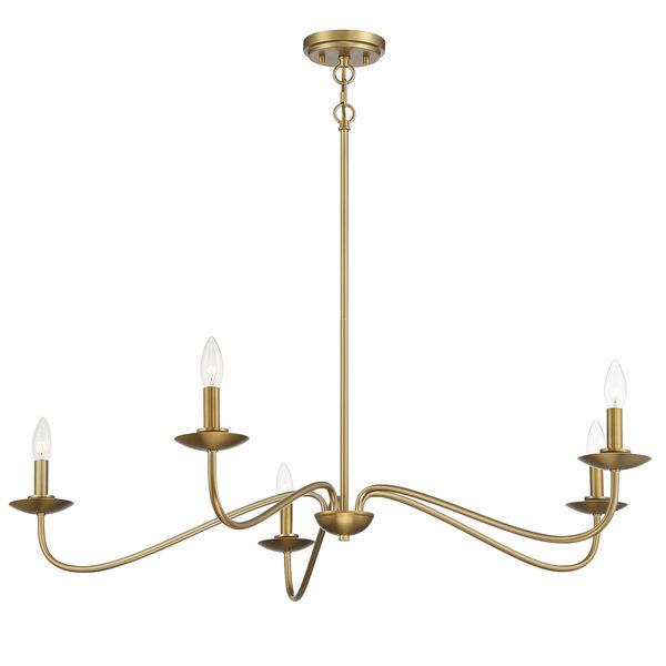 Anna Natural Brass Five-Light Chandelier, image 5